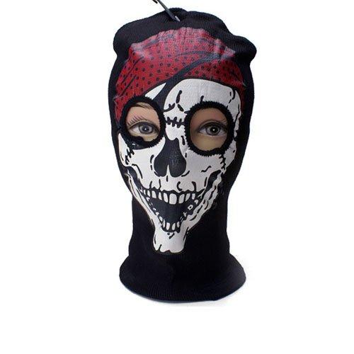 Pirate Skull Print Beanie Mask