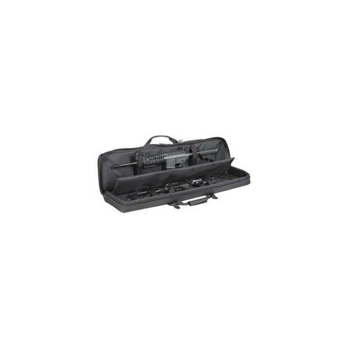 Black 42 Inch Deluxe Padded Weapon Case with 6 Black Locks