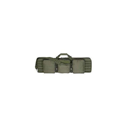 Olive Drab 42 Inch Deluxe Padded Weapon Case with 6 Black Locks