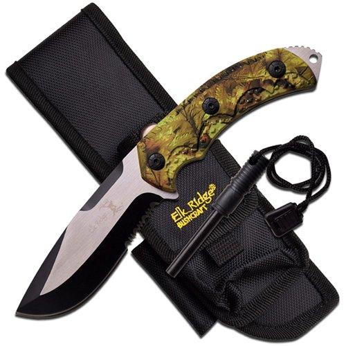 Elk Ridge Stainless Steel Half Serrated Knife