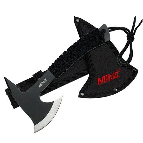 MTech USA Cord Wrapped Handle 3.5mm Thick Blade Black Axe