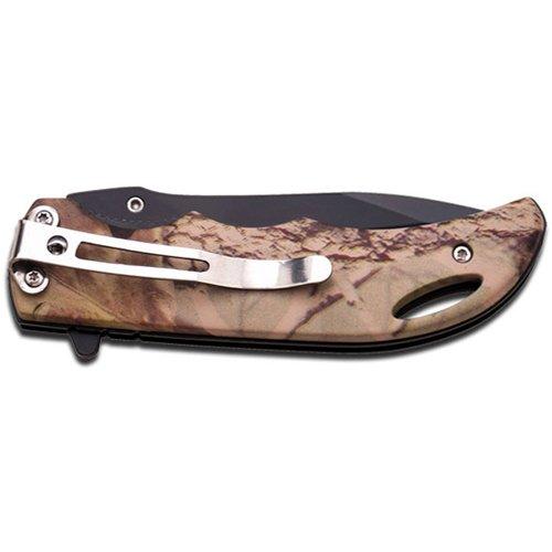 Master USA Spring Assisted Black Blade Folding Knife