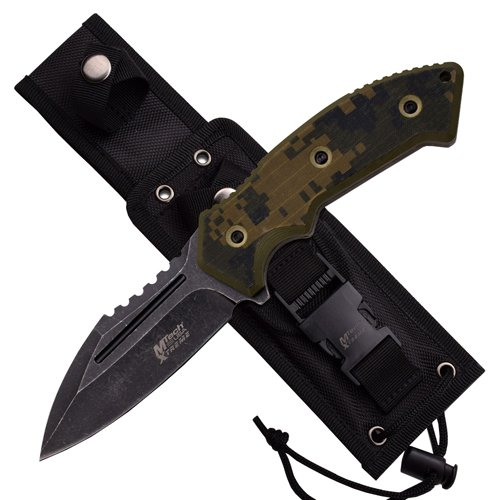 MTech USA Xtreme Tactical Stonewashed Fixed Blade Knife