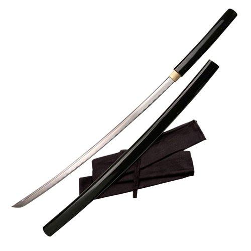 Ten Ryu Samurai Sword w/ Black Lacquer Scabbard