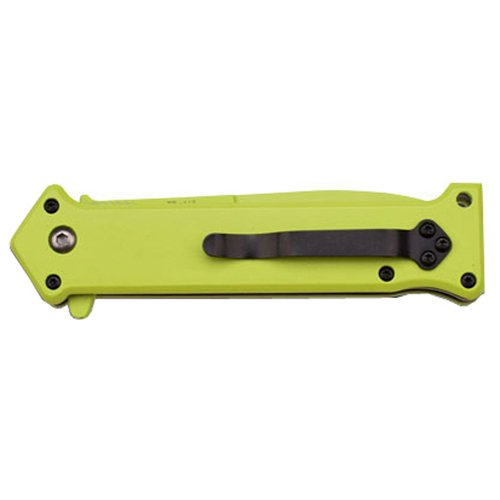 Z Hunter Green Spray Paint Aluminum Handle Folding Knife