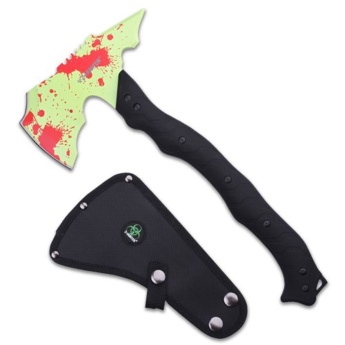Z Hunter ZB-AXE5GR Green Coated Blade With Red Splatters Axe