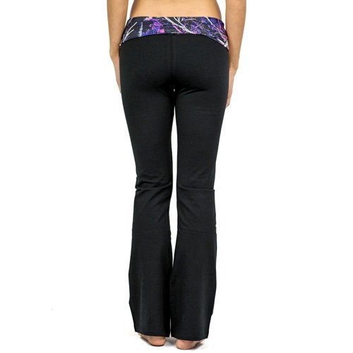 Muddy Girl Pink Camo Black Yoga Pants