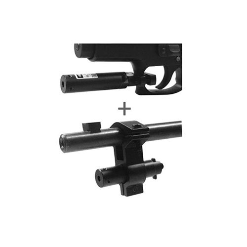 Ncstar Red Laser Sight With Universal Barrel And Trigger Guard Mount Combo Set