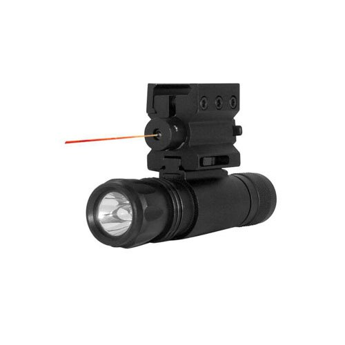 Ncstar Red Laser Sight With Weaver Mount And Led Flashlight