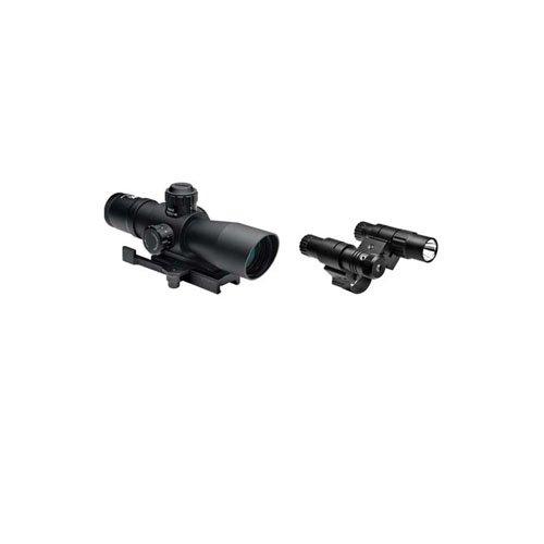 Ncstar Total Targeting System 2-7X32 Mil-Dot Scope Green Laser Flashlight