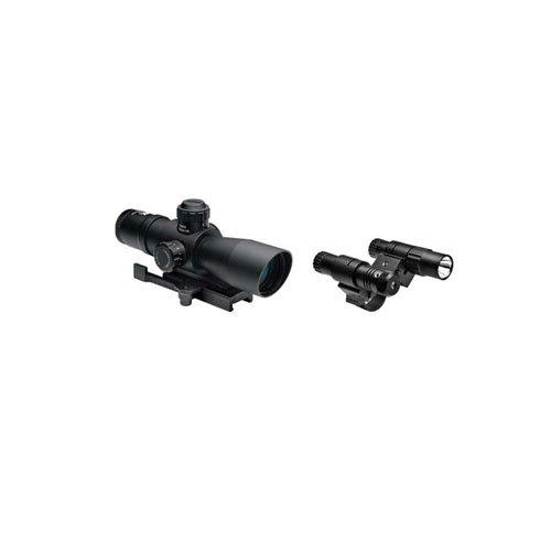 Ncstar Total Targeting System 2-7X32 P4 Sniper Scope Green Laser Flashlight
