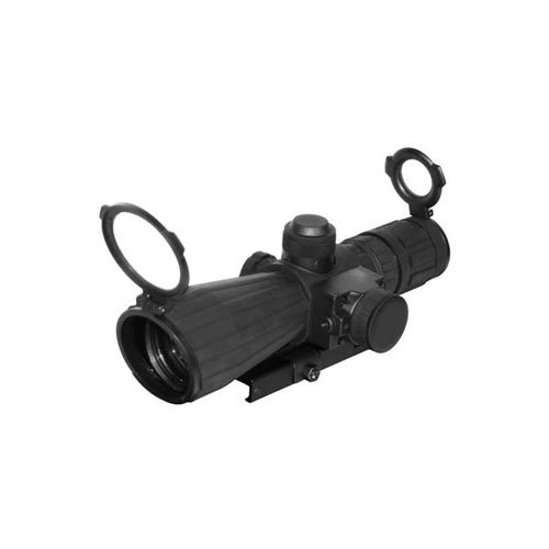 Ncstar SRT Series 3-9X42 Rubber Compact With Red Laser Blue Ill Rangefinder Green Lens
