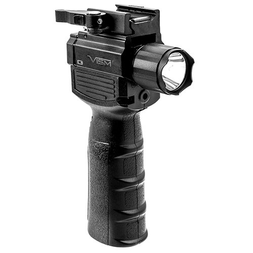 Ncstar Vertical Grip With LED Flashlight & Red Laser