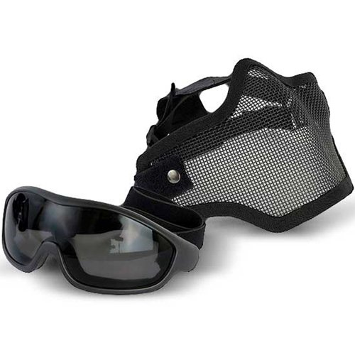 Swiss Arms Airsoft Mask and Goggles Set