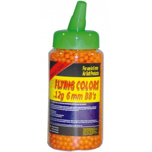 Flying Colors .12g Orange Airsoft BBs - 2000 Count