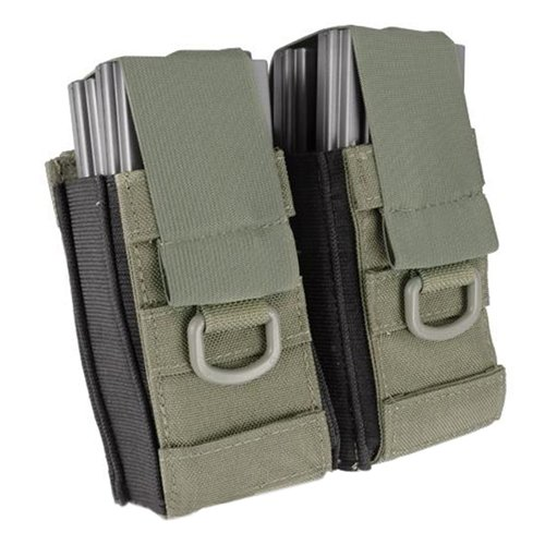 Aggressor Molle Ready AK M4 MP5 Double Magazine Pouch - Ranger Green