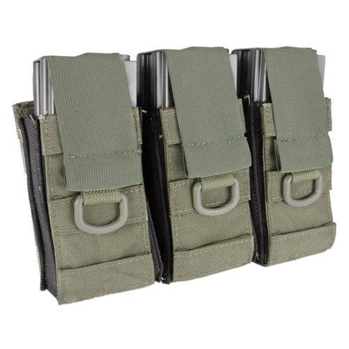 Aggressor Molle Ready AK M4 MP5 Triple Magazine Pouch - Ranger Green