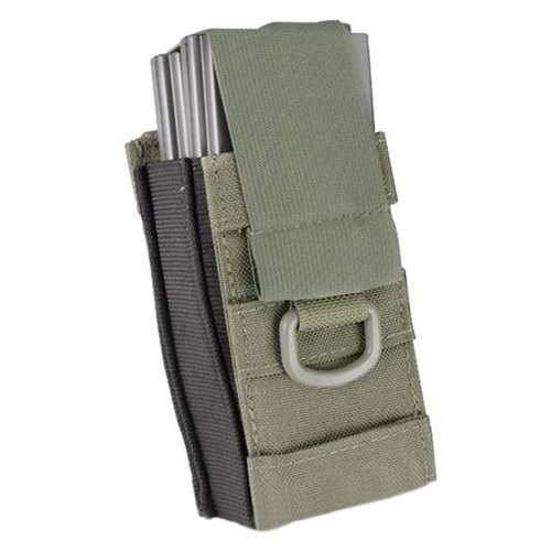 Aggressor Molle Ready AK M4 MP5 Single Magazine Pouch - Ranger Green