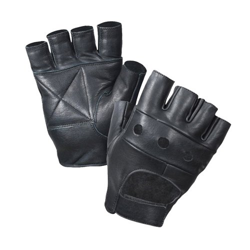 Raven X Fingerless Biker Gloves