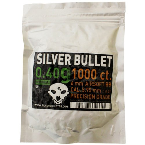 Silver Bullet .40g Bio Airsoft BBs - 1000 Count