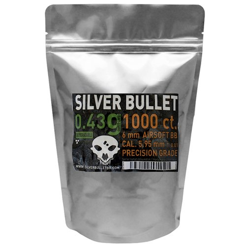 Silver Bullet .43g Bio Airsoft BBs - 1000 Count