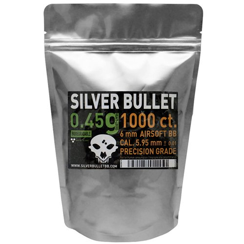 Silver Bullet .45g Bio Airsoft BBs - 1000 Count