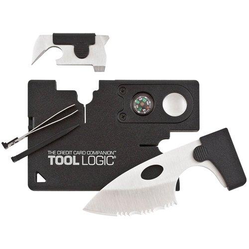 Sog Black Credit Card Companion with Tin Lens Compass