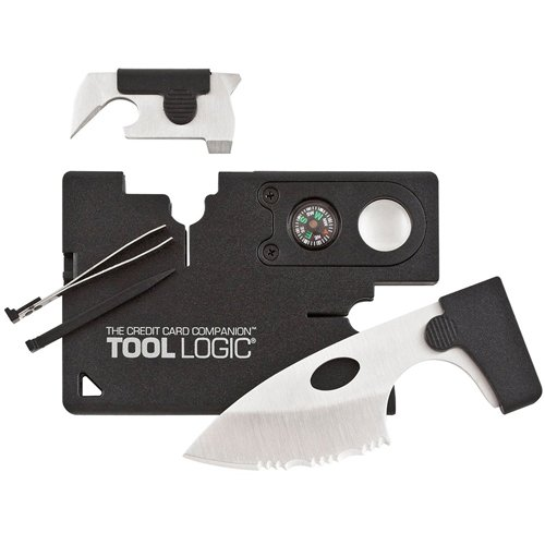 Sog Black Credit Card Companion with Lens Compass Multitool