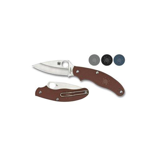 Spyderco UK Penknife Blue FRN Leaf Blade Plain Edge Folding Knife