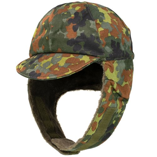 German Flectar Camo Used Winter Cap