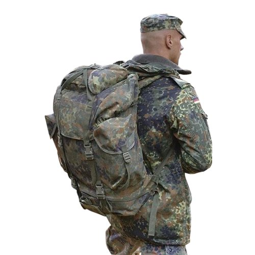 German Nylon Exterior Flecktarn Backpack Used