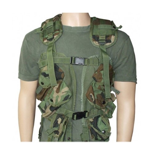 Used US GI Issue Tactical Load Bearing Vest-Woodland