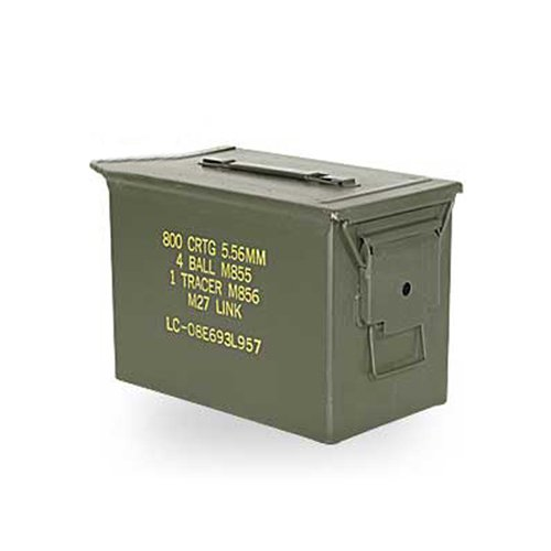 US Military Issue Fat 50 Cal. Ammo Can