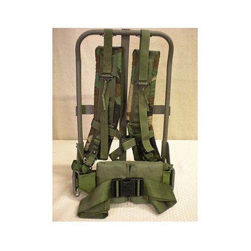 Surplus Alice Pack Frame Woodland Camo Straps Kidney Pad