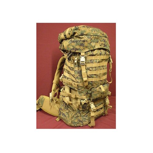 Surplus USMC ILBE Main Backpack with Lid Belt Radio Pouch Marpat