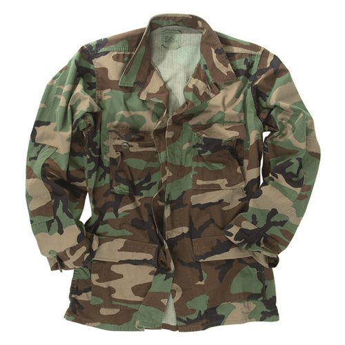 Used GI BDU Shirt Woodland Camo