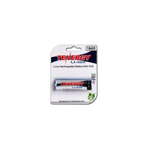 Tenergy Li-ion 2600mAh Protected Button Top Battery