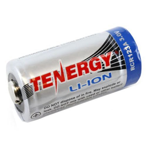 Tenergy Li-ion RCR123A 600mAh Battery