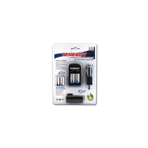 Tenergy Li-ion RCR123A 600mAh Kit W/Smart Charger & Car Adapter
