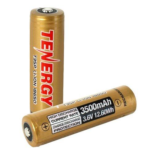 Tenergy T35P 3.6V 18650 Rechargeable Li-ion Battery - 2pk