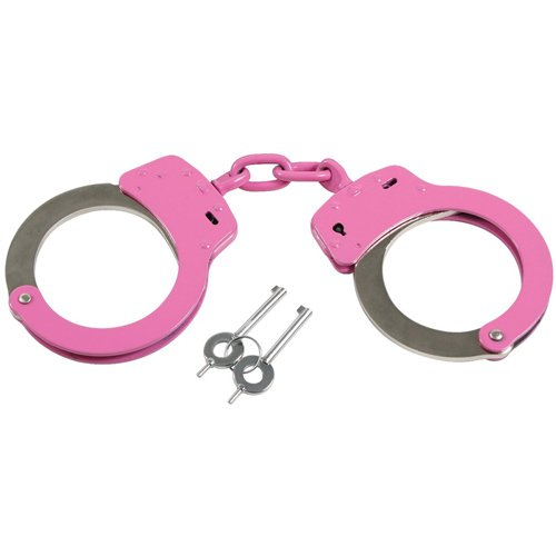 Pink Handcuffs With Belt Loop Pouch