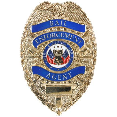 Deluxe Gold Bail Enforcement Agent Badge