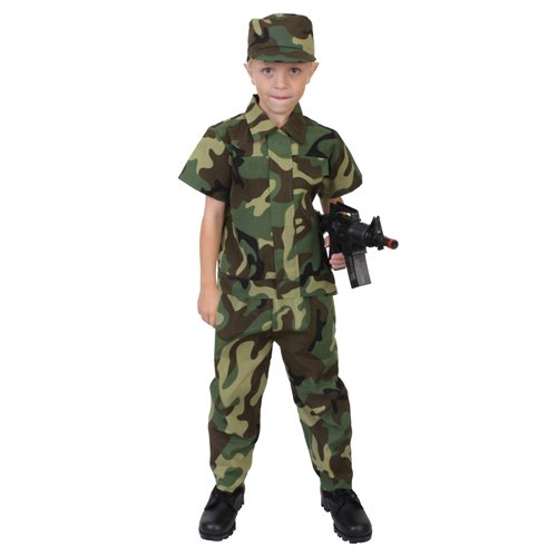 Camouflage Soldier Costume - Kids