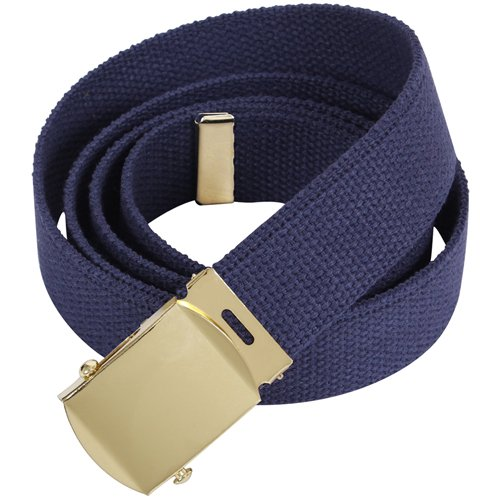 54 Inch Military Gold Buckle Web Belts