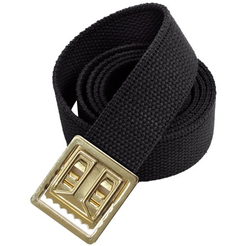 Military Web Belts W Open Face 54 Inch Gold Buckle