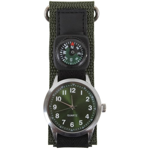 Olive Drab Watch With Compass