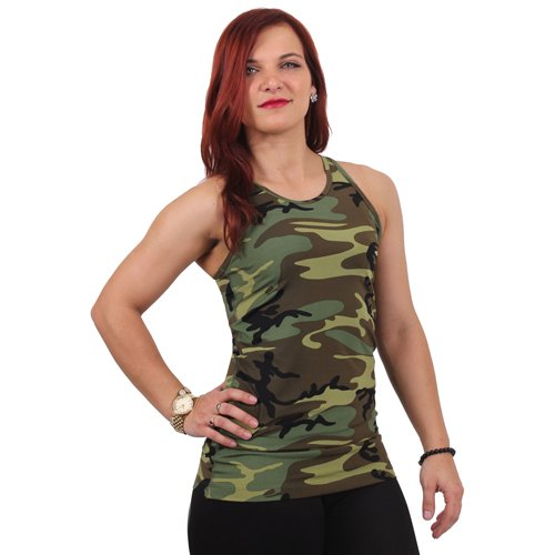Womens Camo Workout Performance Tank Top