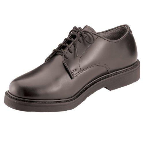 Military Uniform Oxford Soft Sole Leather Shoes - Black
