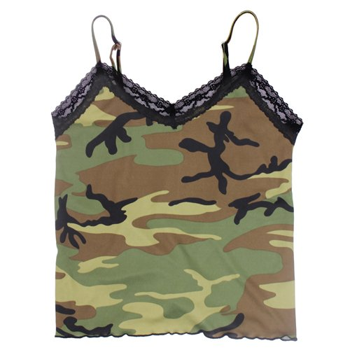 Women's Lace Trimmed Camisole - Camo