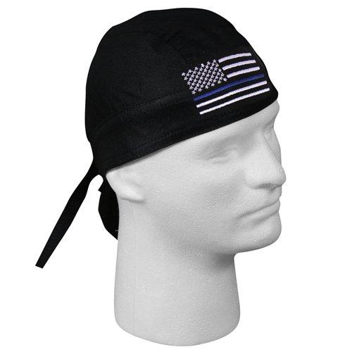 Blue Line Flag Headwrap